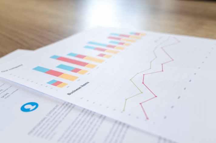 analytics blur business close up
